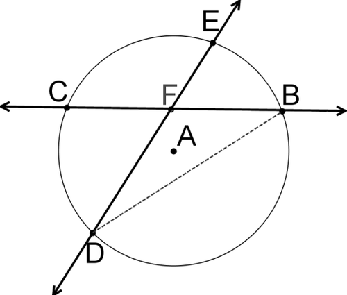Intersecting Secants Theorem Read Geometry Ck 12 Foundation