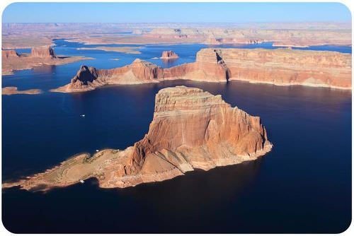 Glen Canyon Dam in Arizona created Lake Powell