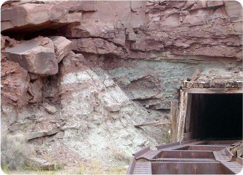 Uranium mine near Moab, Utah