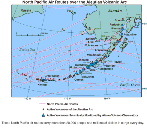 Map of a Aleutian Islands