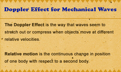 Doppler Effect for Mechanical Waves - Overview