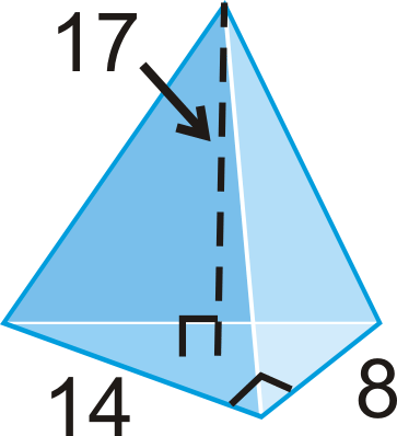 Pyramids read geometry ck 12 foundation find the volume of the pyramid with a right triangle as its base ccuart Choice Image