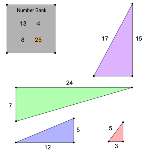Identifying Sets of Pythagorean Triples: Matching Problem