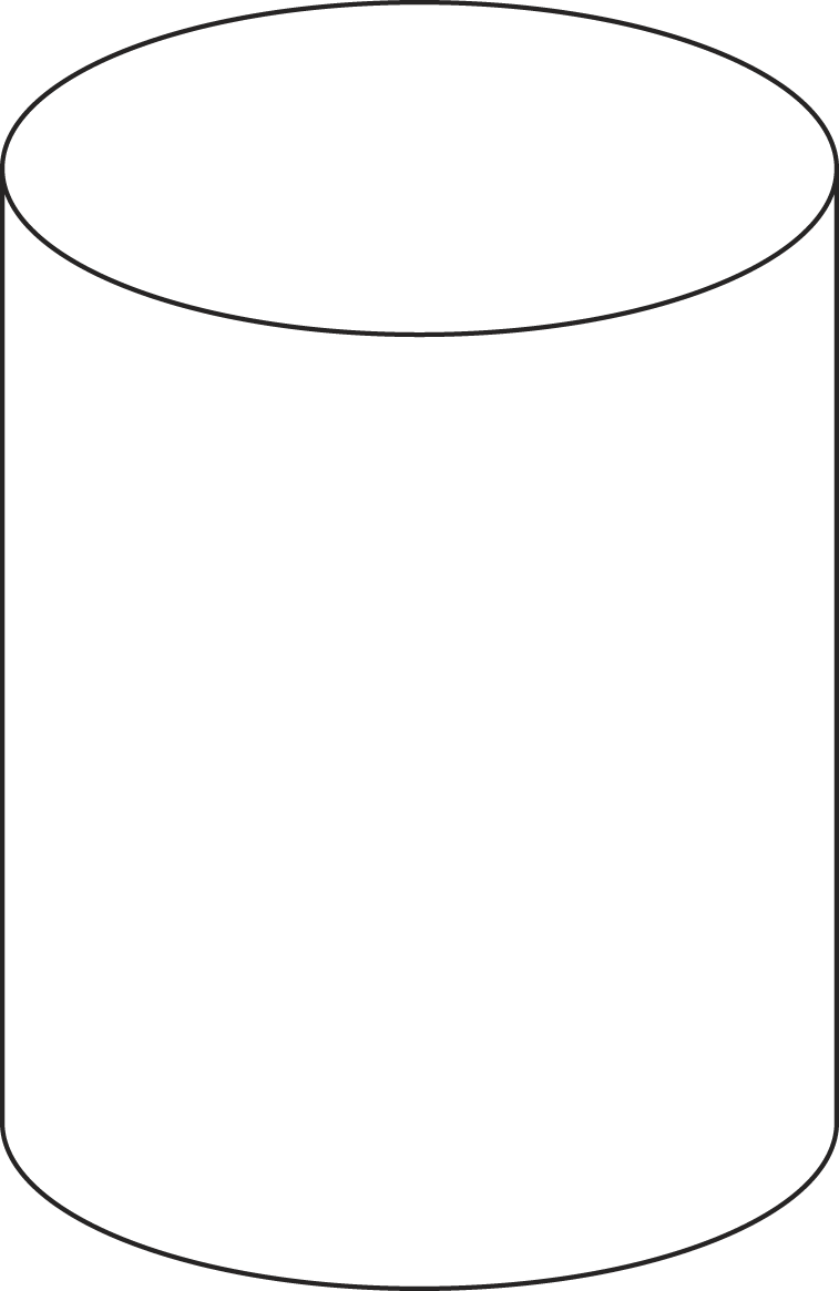 Here Is A Cylinder Notice That It Has Two Parallel Congruent Circular  Bases The Face Of The Cylinder Is One Large Rectangle