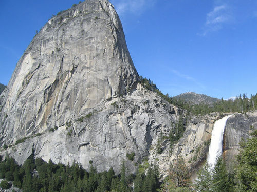 The Sierra Nevada Mountains are granite intrusions