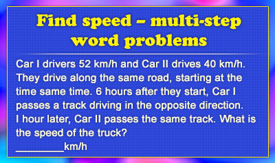 Speed Challenge Problems - Level Two - Example 4