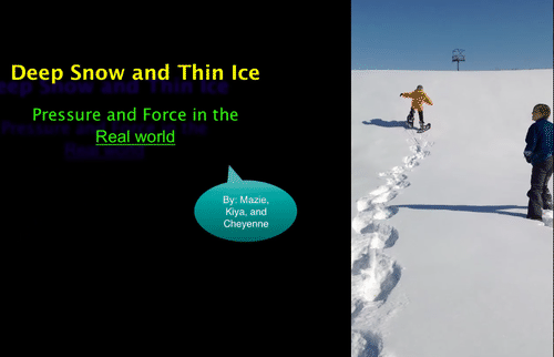 Deep Snow and Thin Ice - Pressure and Force in Alaska