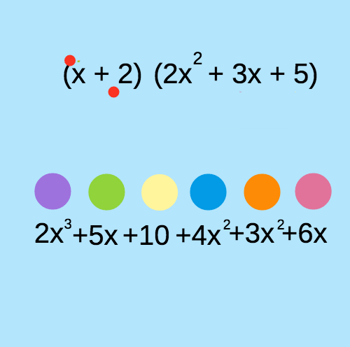 Multiplication of Polynomials by Binomials: Rainbows