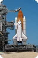 Space Shuttle on the launchpad