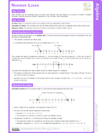 Number Lines Study Guide
