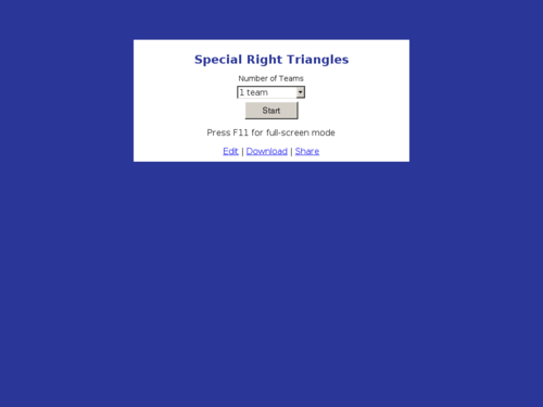 Special Right Triangles Jeopardy