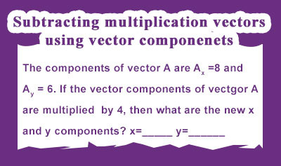 Vector Operations Using Components - Example 3