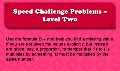 Speed Challenge Problems - Level Two - Overview