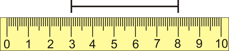 Subtract One Endpoint From The Other The Line Segment Spans From 3 Cm To 8 Cm