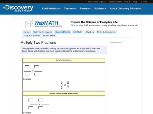 Multiply Two Fractions