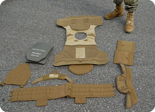 Kevlar vest, created using chemistry