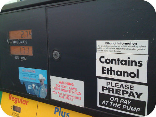 Ethanol is added to gasoline