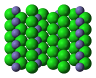 Lattice structure for iron chloride