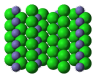 Lattice structure for iron chloride