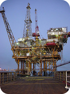 Picture of an offshore drilling oil platform