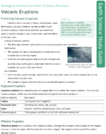 Volcanic Eruptions Study Guide
