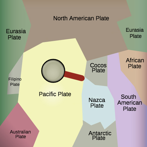 map for earth's tectonic plates