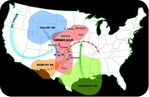 Map of Tornado Alley
