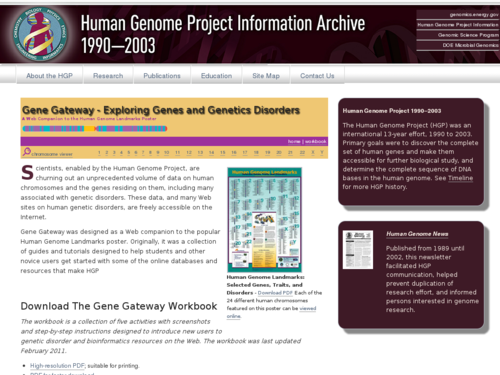 Human Genome Landmarks Poster: Chromosome Viewer