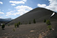A cinder cone volcano in Lassen National Park