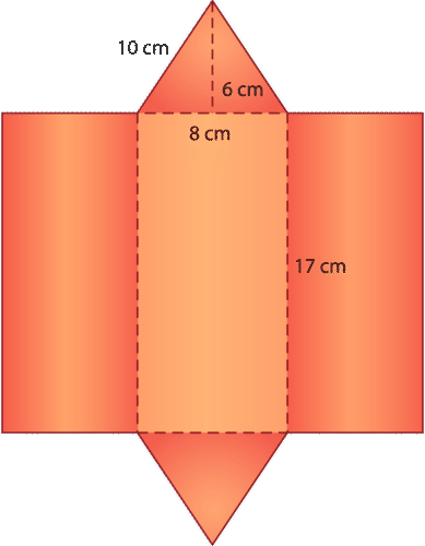 the net for this triangular prism is as follows