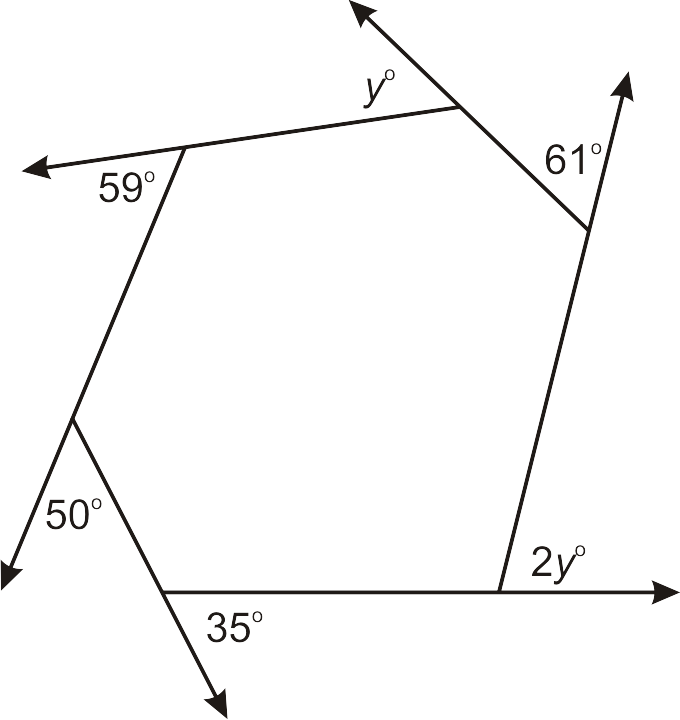 Interior and exterior angles of polygons worksheet 100 for Exterior angles of a polygon