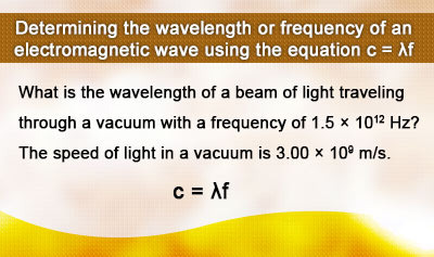 Characteristics of Electromagnetic Waves - Example 1