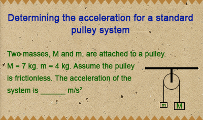 Blocks and Pulley Systems and Tension Force - Example 1