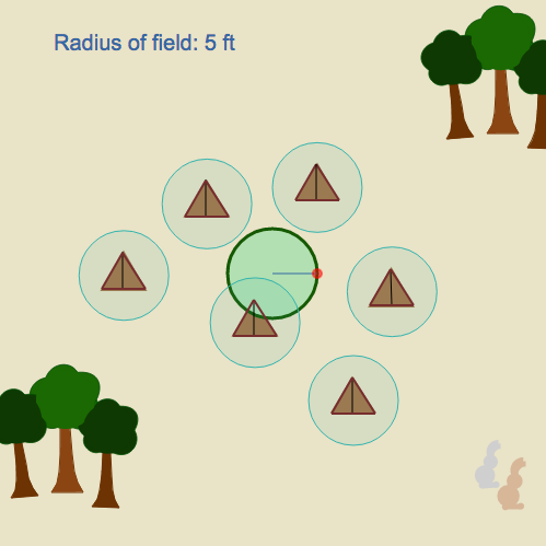 Area of a Circle: Campsite