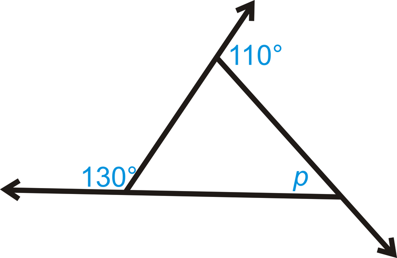 Exterior angles theorems read geometry ck 12 foundation What do exterior angles of a triangle add up to