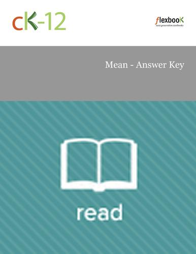 Mean - Answer Key