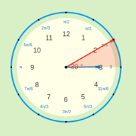 Conversion between Degrees and Radians: Clock Angles and Measures