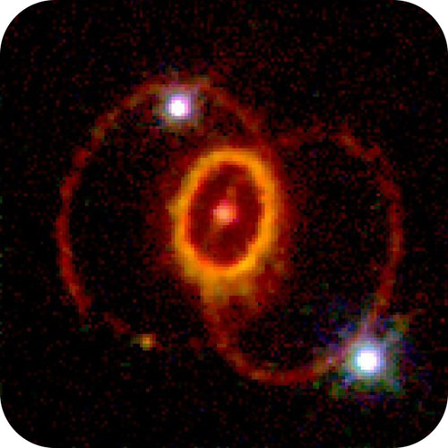 Telescope image of an exploding supernova