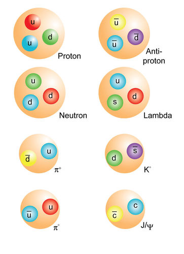 Quark Combinations for Various Hadrons