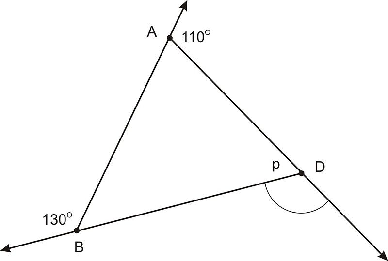 Triangle Sum and Exterior Angle Theorems – Exterior Angles of a Triangle Worksheet