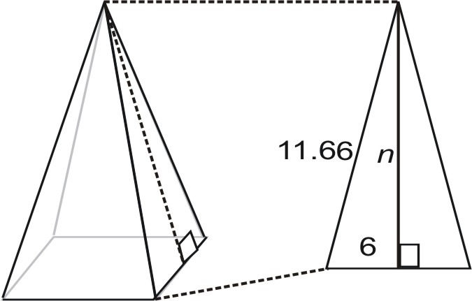 how to find the slant height of a triangle