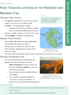 Plate Tectonics and Seas of the Paleozoic and Mesozoic Era Study Guide