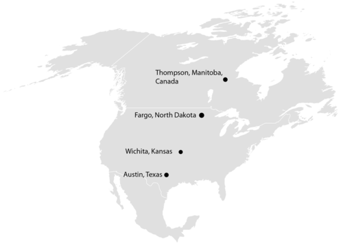Different latitude leads to different climates for these cities
