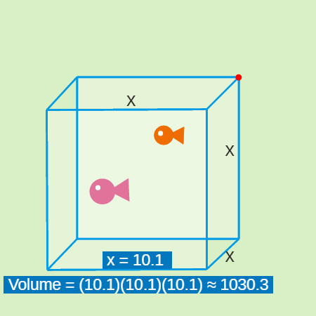 Algebra Expressions with Exponents: Fish Tank Cube