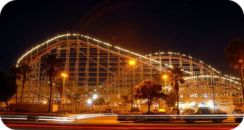 The slowest peak in a roller coaster ride is the tallest peak and is the rate determining step