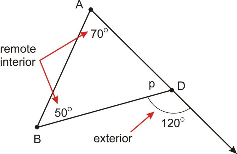 Triangle Sum and Exterior Angle Theorems  CK-12 Foundation