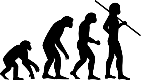 The theory of evolution maintains that modern humans evolved from ape-like ancestors