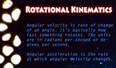 Rotational Kinematics - Overview