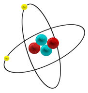 Drawing of an atom of helium
