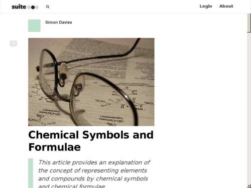 The Concept of Chemical Symbols
